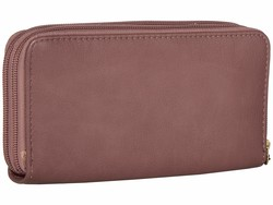 Jessica Simpson Dusty Plum Tashani Double Zip Around Checkbook Wallet - Thumbnail