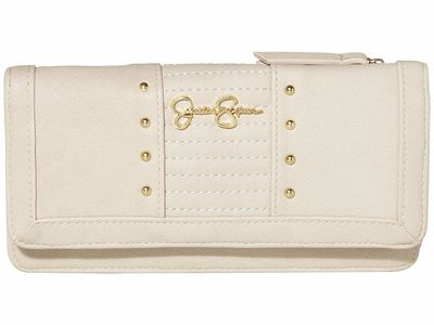 Jessica Simpson - Jessica Simpson Parchment Tilly Tripple Gusset Checkbook Wallet
