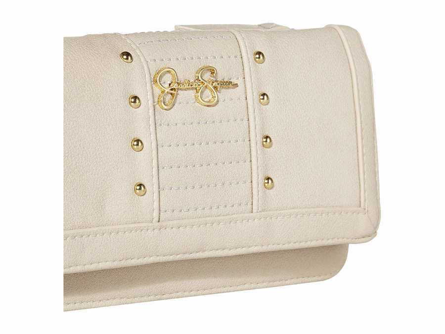 Jessica Simpson Parchment Tilly Tripple Gusset Checkbook Wallet