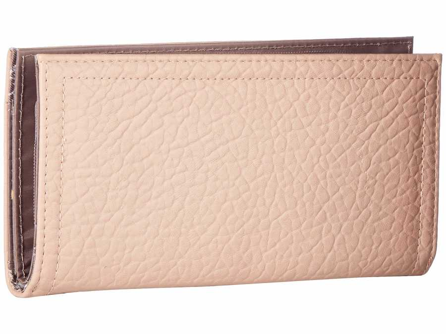 Jessica Simpson Pink Salt Georgie Single Zip Organizer Bi-Fold Wallet