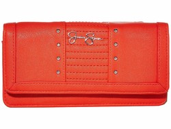 Jessica Simpson Poppy Tilly Tripple Gusset Checkbook Wallet - Thumbnail
