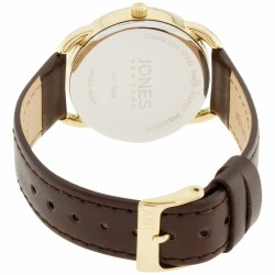 Jones New York Silver Dial Leather Strap Ladies Watch 11596G528-006 - Thumbnail