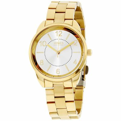 Jones New York - Jones New York White Dial Stainless Steel Ladies Watch 11746G528-005