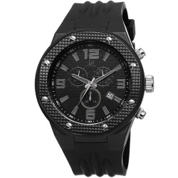 Joshua Sons Bold Men's Chronograph Date Silicone Strap Watch JS62BK - Thumbnail