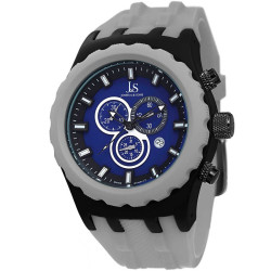 Joshua Sons Men's Chronograph Silicon Strap Watch JS59GY - Thumbnail