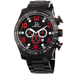 Joshua Sons Men's Chronograph Solid Stainless Steel Bracelet Watch JX127RD - Thumbnail