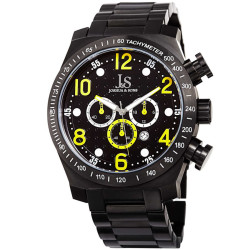 Joshua Sons Men's Chronograph Solid Stainless Steel Bracelet Watch JX127YL - Thumbnail