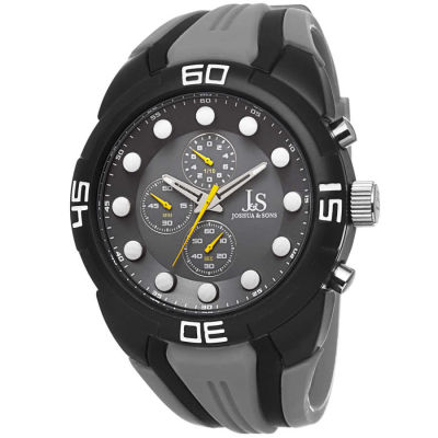 Joshua & Sons - Joshua Sons Men's Chronograph Sports Silicone Strap Watch JS61GY