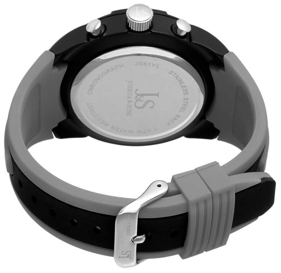 Joshua Sons Men's Chronograph Sports Silicone Strap Watch JS61GY