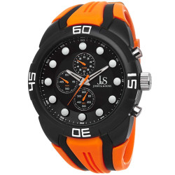 Joshua Sons Men's Chronograph Sports Silicone Strap Watch JS61OR - Thumbnail