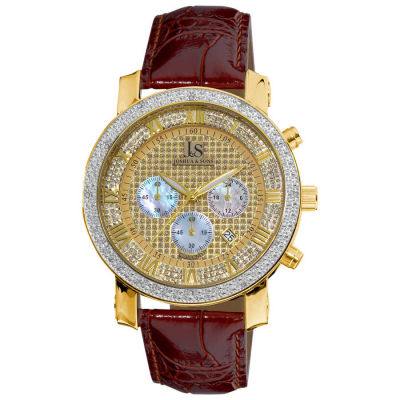 Joshua & Sons - Joshua Sons Men's Diamond Chronograph Strap Watch JS-28-03