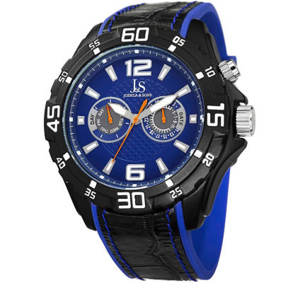 Joshua & Sons - Joshua Sons Men's Multifunction Swiss Quartz Layered Strap Watch JS79BU