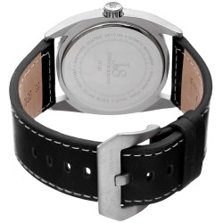 Joshua Sons Men's Solid Steel Case Genuine Leather Strap Watch JX120OR - Thumbnail