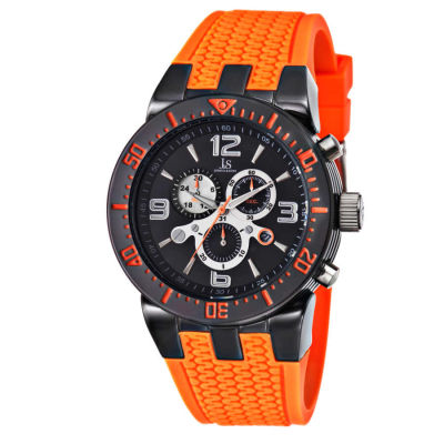 Joshua & Sons - Joshua Sons Sporty Men's Swiss Quartz Chronograph Silicone Strap Watch JS55OR