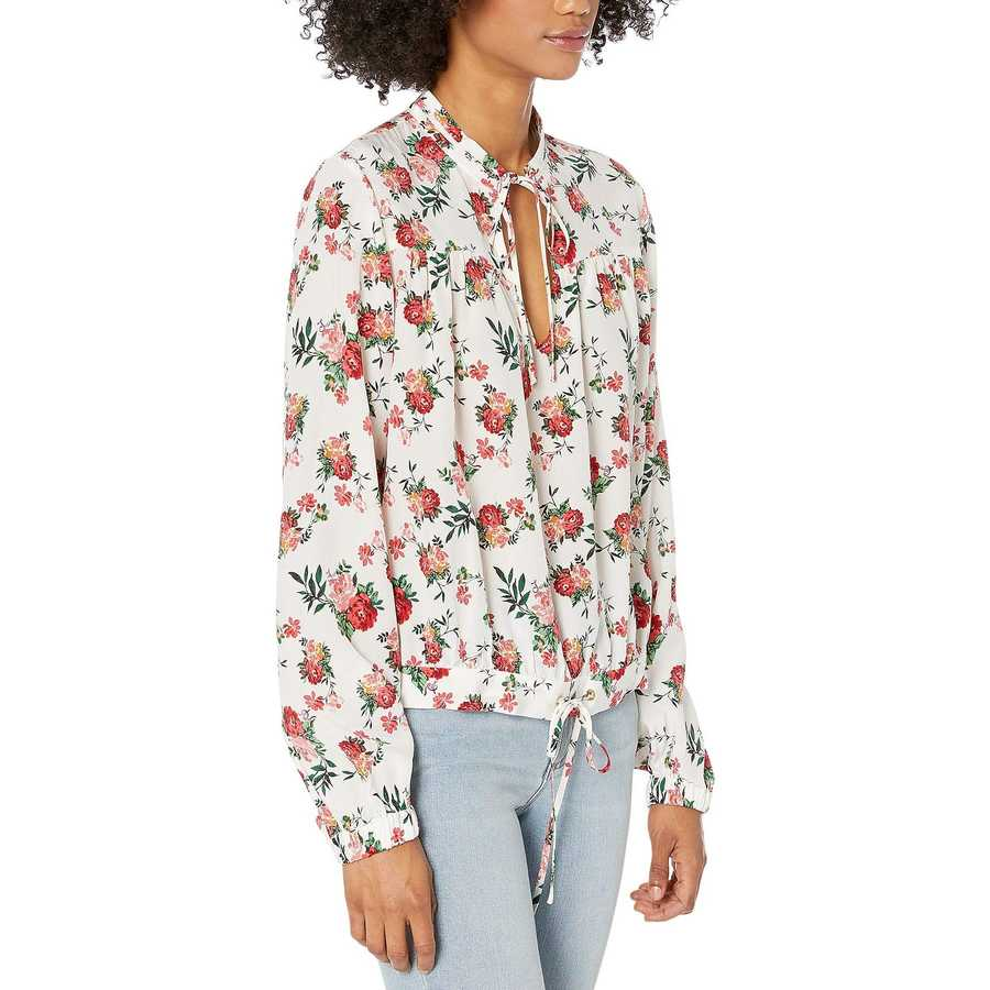 Juicy Couture Angel Faded Floral Faded Floral Silk Top