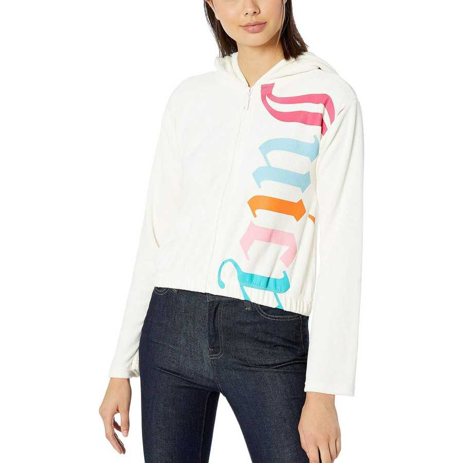 Juicy Couture Angel Gothic Juicy Microterry Logo Track Jacket
