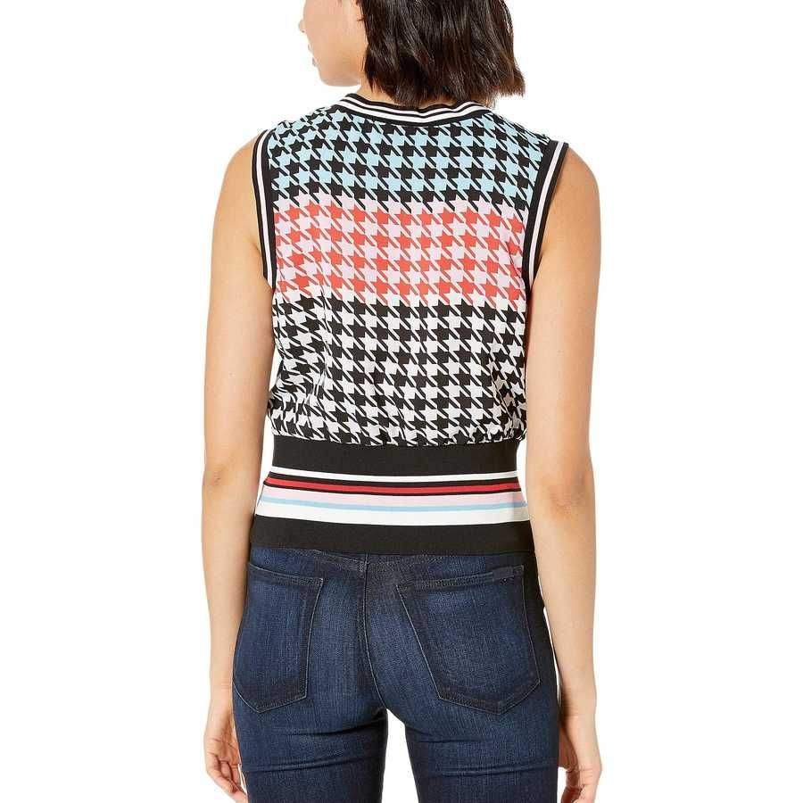 Juicy Couture Bonfire Houndstooth Houndstooth Sleeveless Top