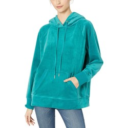 Juicy Couture Castle Green Luxe Velour Hooded Pullover - Thumbnail