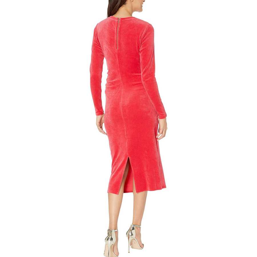 Juicy Couture Cherry Pop Stretch Velour Midi Dress