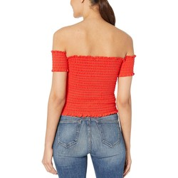 Juicy Couture City Rouge Microterry Smocked Top - Thumbnail