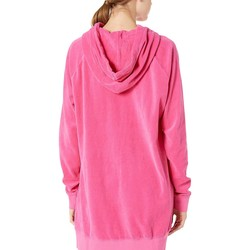 Juicy Couture Couture Pink Velour Oversized Boyfriend Hoodie - Thumbnail