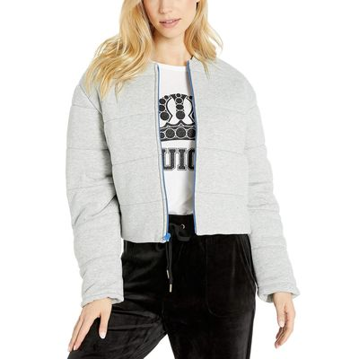 Juicy Couture - Juicy Couture Heather Cozy Juicy Quilted Terry Track Jacket