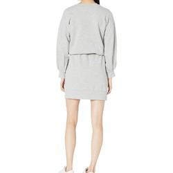 Juicy Couture Heather Cozy Silicone Juicy Logo Fleece Track Dress - Thumbnail