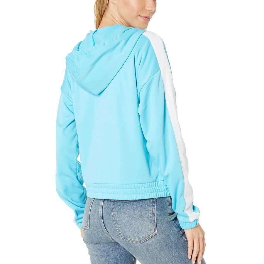 Juicy Couture Jammer Blue Solid Tricot Track Hoodie Jacket