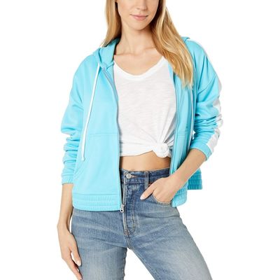 Juicy Couture - Juicy Couture Jammer Blue Solid Tricot Track Hoodie Jacket