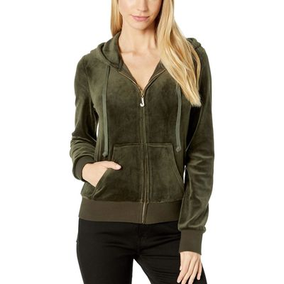 Juicy Couture - Juicy Couture Lost Labyrinth Track Luxe Velour Robertson Jacket W/ Charm Pull