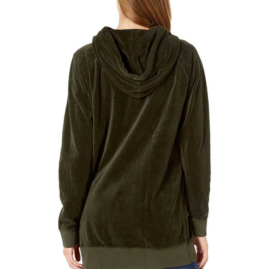 Juicy Couture Lost Labyrinth Velour Oversized Boyfriend Hoodie
