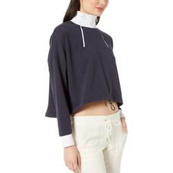 Juicy Couture Midnight Blue Double Zip Crop Pullover - Thumbnail