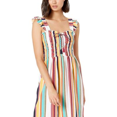 Juicy Couture - Juicy Couture Multi Maroco Stripe Maroc Stripe Microterry Smocked Dress