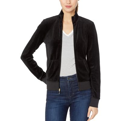 Juicy Couture - Juicy Couture Pitch Black 2 Fairfax Velour Jacket