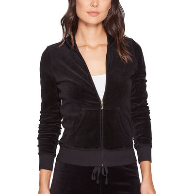 Juicy Couture - Juicy Couture Pitch Black Fairfax Velour Jacket