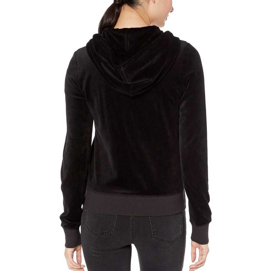 Juicy Couture Pitch Black Robertson Velour Jacket