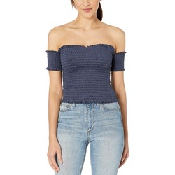 Juicy Couture Regal Microterry Smocked Top - Thumbnail
