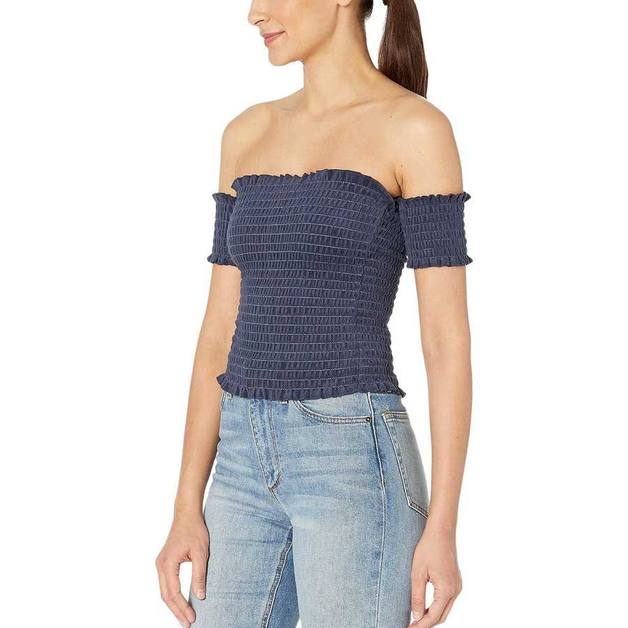 Juicy Couture Regal Microterry Smocked Top