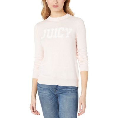 Juicy Couture - Juicy Couture Rose Quartz Flocked Logo Sweater