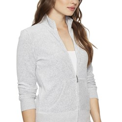 Juicy Couture Silver Lining Fairfax Velour Jacket - Thumbnail