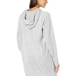 Juicy Couture Silver Lining Velour Oversized Boyfriend Hoodie - Thumbnail