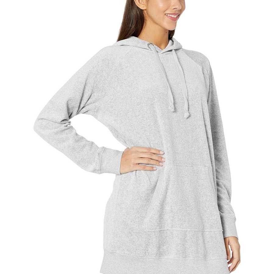Juicy Couture Silver Lining Velour Oversized Boyfriend Hoodie