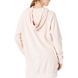 Juicy Couture Silver Pink Velour Oversized Boyfriend Hoodie - Thumbnail