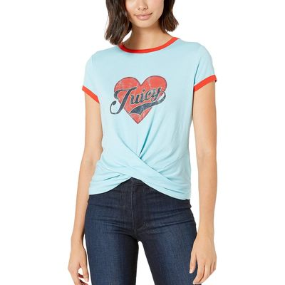 Juicy Couture - Juicy Couture Sky Line Juicy Heart Graphic Twist Hem Tee