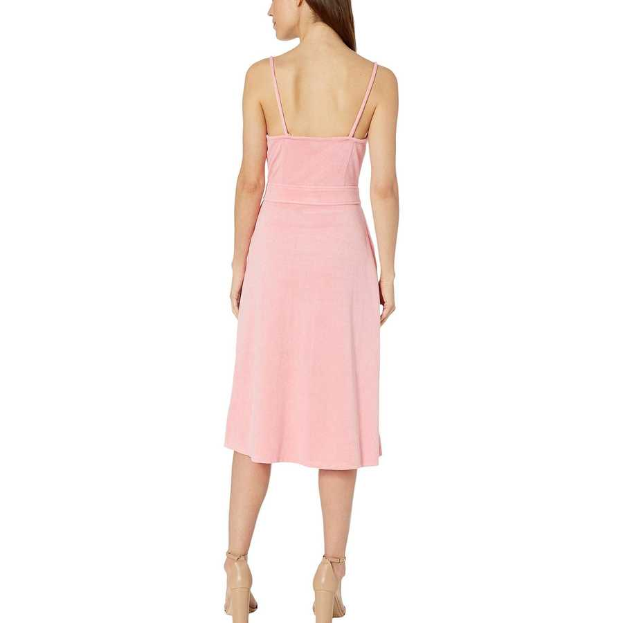 Juicy Couture Sorbet Pink Microterry Tie Front Maxi Dress