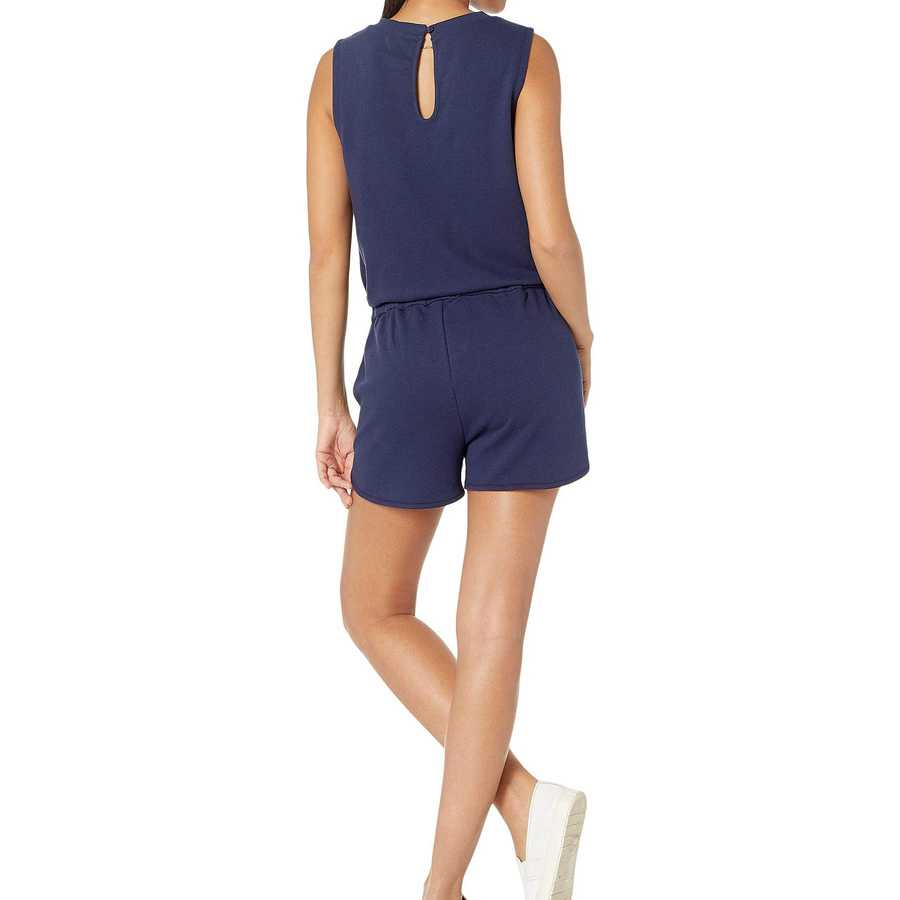 Juicy Couture Starless Sky Juicy French Terry Track Sleeve Short Romper