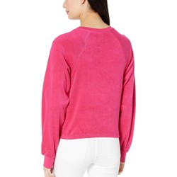 Juicy Couture Sweet Raspberry Juicy A Gogo Microterry Logo Pullover - Thumbnail