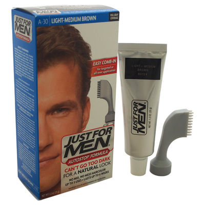 Just For Men - Just For Men Auto Stop Hair Color Light-Medium Brown # A-30 1Application