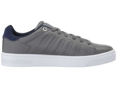K-Swiss - K-Swiss Men's Pewter/Patriot Blue Court Frasco Sneakers Athletic Shoes 9080945777671