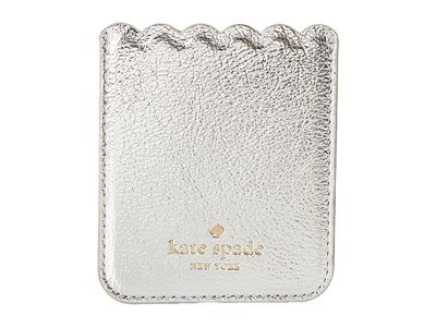 Kate Spade New York - Kate Spade New York Platino Metallic Scallop Sticker Pocket Coin Card Case